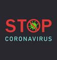 stop coronavirus covid-19 background vector image vector image