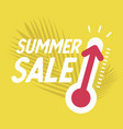 summer sale with thermometer vector image