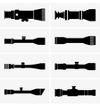 Telescopic sight vector image vector image