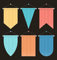 template colorful blank pennant set empty vector image vector image