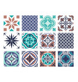 tile mosaic pattern set traditional abstract vector image vector image