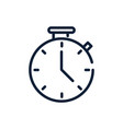 time chronometer clock linear design vector image