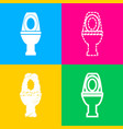 toilet sign four styles of icon on vector image vector image