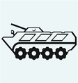 Wheeled armoured personnel carrier vector image vector image
