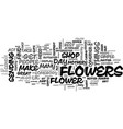 where to send flowers from in the uk text word vector image vector image
