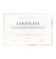 winner luxury certificate template design blank vector image