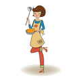 woman cooking vector image vector image