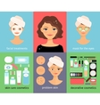 Woman facial treatments chart vector image vector image