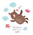 bear valentines card vector image