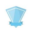 blue shield ribbon shape diamond empty vector image