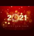 2021 new year poster with greeting text golden vector image vector image