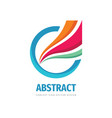 abstract ring with wing - concept logo design vector image vector image