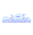bangkok skyline thailand big city buildings vector image vector image