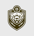 bear head silhouette grizzly emblem