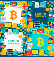 bitcoin cryptocurrency paper templates vector image vector image