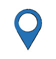 blue pointer map navigation gps vector image