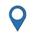 Blue pointer map navigation gps vector image