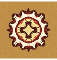 Brown and Yellow Tiled Fabrik Ornament Gorgeous vector image vector image