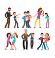 bullying people students kids fighting with vector image vector image