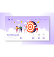business goal achievement landing page website vector image