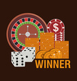 casino games design vector image vector image