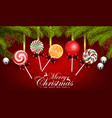 christmas and happy new year with candy vector image vector image