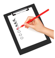 clipboard with check-boxes vector image vector image