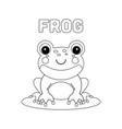 coloring page outline cartoon frog vector image vector image