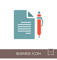 contract document with pencil outline icon vector image vector image