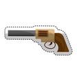 cowboy gun isolated icon vector image