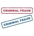 Criminal Fraud Rubber Stamps vector image vector image
