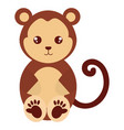 cute and tender monkey character vector image