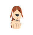 cute beagle dog animal cartoon character vector image vector image