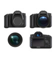 digital cameras realistic dslr photo camera for vector image