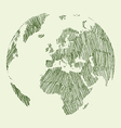 Earth draw vector image vector image