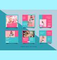 fashion social media promotion square design vector image vector image