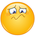 feeling unwell emoticon vector image