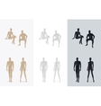 Female and Male Mannequin vector image
