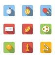 Fitness icons set flat style vector image vector image