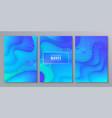 fluid gradient shapes composition liquid color vector image vector image