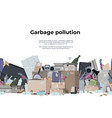 garbage background seamless pattern with plastic vector image vector image