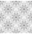Geometric flower seamless pattern black white vector image vector image