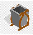 gray litter bin isometric icon vector image vector image