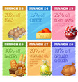 grocery banners set design concept of vector image vector image