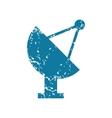 Grunge satellite dish icon vector image vector image