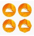 Hard hat sign icon Construction helmet symbol vector image vector image