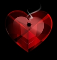 heart shot vector image vector image