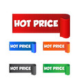 hot price sticker label on white background vector image