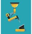 industrial robot arm mechanical vector image vector image