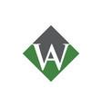initial aw rhombus logo design vector image vector image